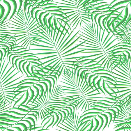 Tropical pattern seamless background. Palm leaves, modern seamless summer tropic art. Colorful trendy natural botanic print for decoration fabric,fashion textile. Palm tree leaf.Vector tropics botany Illustration