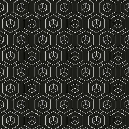 Repetitive Decorative Graphic Technology, Pattern Texture. Continuous Fabric Vector Web Wallpaper Pattern. Repeat White Continuous, Swatch Texture. Simple Print Pattern