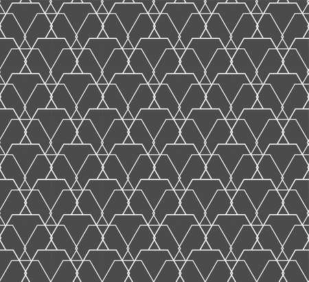 Repetitive Wave Vector Hex, Print Pattern. Seamless Tileable Graphic Rhombus Repeat Texture. Repeat Fabric Honeycomb, Plexus Texture. Creative Lattice Pattern