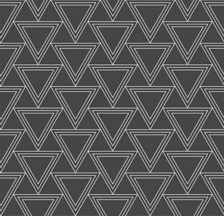 Continuous Minimal Vector Diagonal, Plexus Pattern. Repeat White Graphic Triangle Array Texture. Seamless Elegant Poly, Pattern Texture. Vintage Decoration Pattern