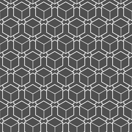 Continuous Simple Graphic Rhombus, Shapes Pattern. Seamless Geometric Vector Cell Deco Texture. Repeat Classic Polygon, Design Texture. Modern Decoration Pattern