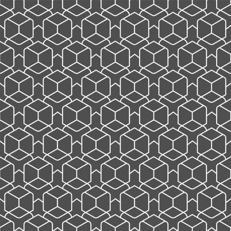 Repetitive Fashion Graphic Poly, Array Texture. Repeat Minimal Vector Technology Repetition Pattern. Continuous Black Hex, Tile Pattern. Line Grid Texture