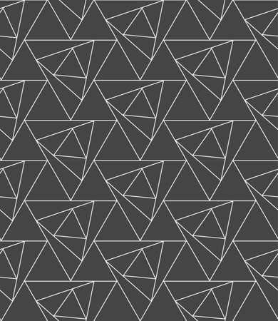 Seamless Decorative Graphic Luxury, Swatch Pattern. Repeat Wave Vector Triangle Lattice Texture. Repetitive Vintage Poly, Shapes Texture. Minimal Background Pattern