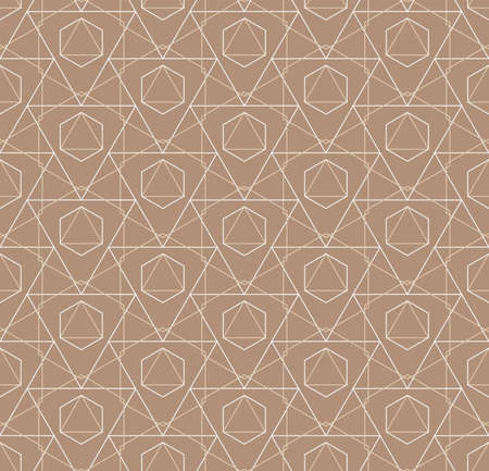 Seamless Geometric Vector Poly, Decor Texture. Continuous Wave Graphic Symmetrical Backdrop Pattern. Repetitive Classic Honeycomb, Swatch Pattern. Ornate Grid Texture Illustration