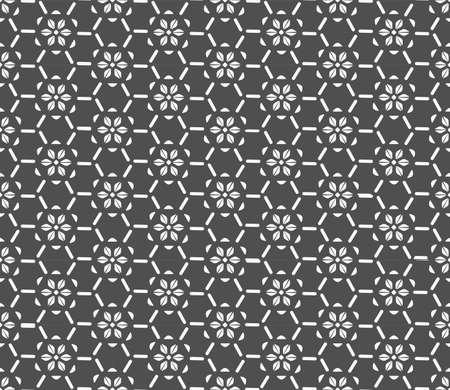 Continuous Islamic Graphic Thirties Wallpaper Texture. Seamless Elegant Vector Plexus Repeat Pattern. Repeat Geometric Circular Art Pattern. Retro Pattern Texture. Illustration