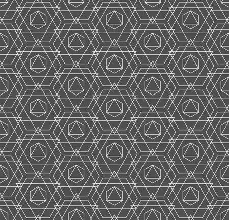 Repeat Abstract Graphic Hexagon, Wallpaper Texture. Continuous Ornament Vector Continuous Design Pattern. Repetitive Modern Technology, Grid Texture. Creative Lattice Pattern