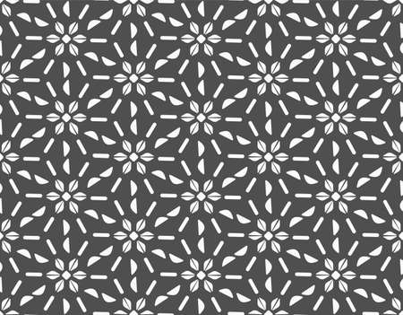 Repeat White Vector Thirties Art Pattern. Repetitive Black Graphic Plexus Texture Texture. Continuous Modern Luxury Swatch Texture. East Print Pattern.