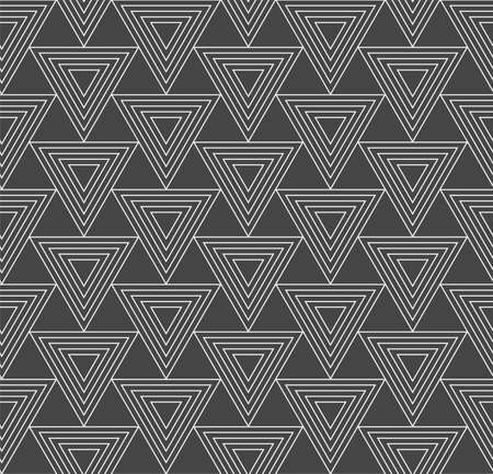 Repeat Wave Graphic Luxury, Texture Texture. Repetitive Classic Vector Triangle Background Pattern. Seamless Ornate Triangular, Deco Texture. Fashion Textile Pattern