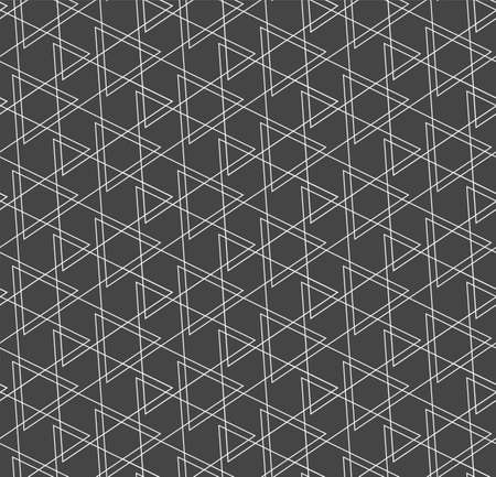 Repetitive Linear Vector Poly, Repetition Pattern. Seamless Decorative Graphic Luxury Pattern Texture. Repeat Retro Geo, Lattice Texture. Black Tile Pattern