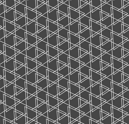 Repeat Decorative Graphic Symmetrical, Swatch Texture. Seamless Fashion Vector Triangle Tile Pattern. Repetitive Ramadan Web, Lattice Pattern. Asian Pattern Texture