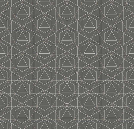 Repetitive White Graphic Technology, Decoration Pattern. Continuous Minimal Vector Polygon Grid Texture. Repeat Asian Honeycomb, Art Pattern. Modern Lattice Texture