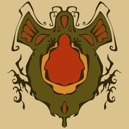 Stylish abstract graphic symbol, Vector illustration.