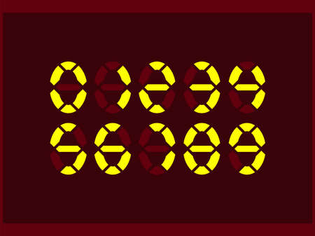 Figures made based on the e-numbers inscribed in the oval Ilustração