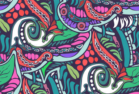 Decorative natural seamless background of red and blue color Illustration