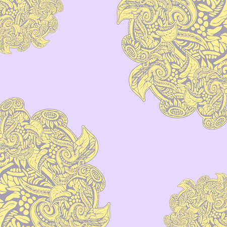 Background ornamental natural patterned yellow pink Ilustrace