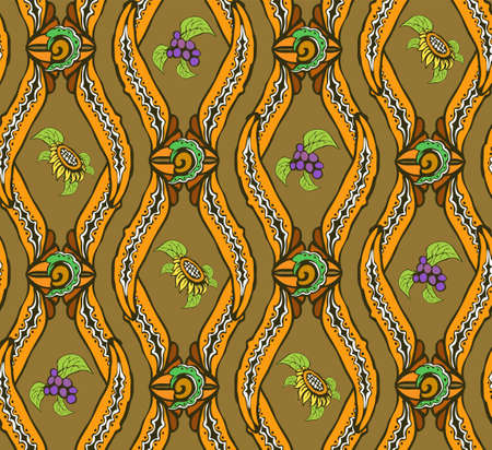 Symmetrical decorative natural background of warm colors 向量圖像