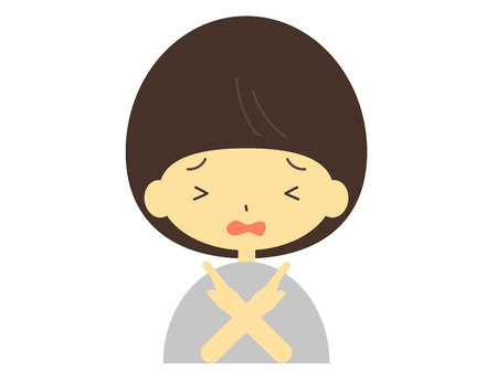 Women face the trouble icon NG  イラスト・ベクター素材