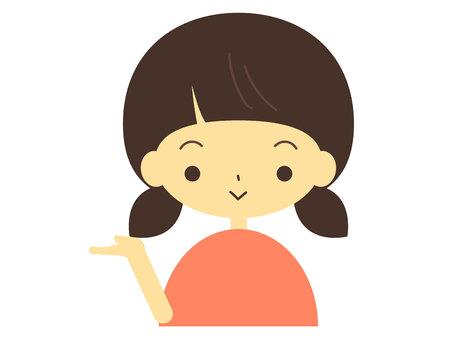 Illustration of a girl to explain  イラスト・ベクター素材