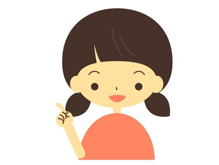 Insert finger girl illustrations