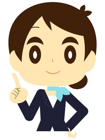 Flight attendant (CA-flight attendant  stewardess  flight attendant anti-breast) posset