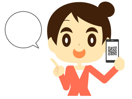Women describe the QR code payment