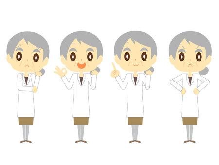 Elderly woman doctor