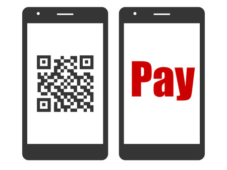 Cashless smart phone Illustration