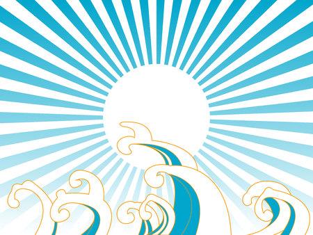 Illustration of a wave of Japan