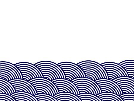 Illustration of waves of Japan