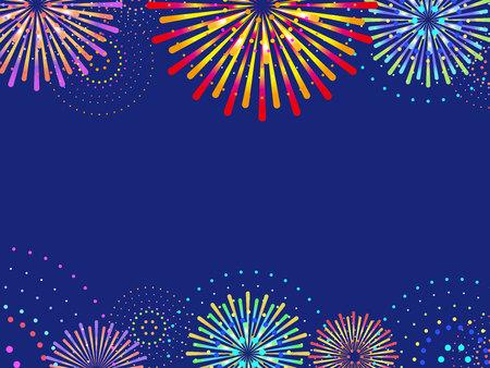 Fireworks in the night sky Stock Illustratie
