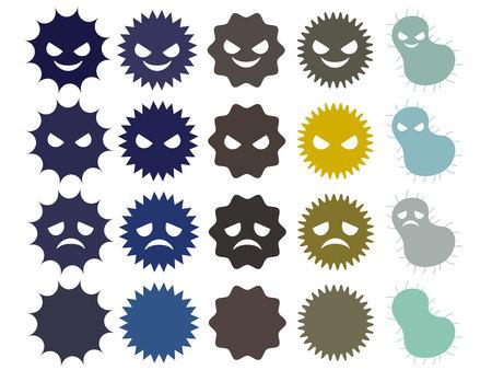 Illustration of a cute virus Illustration