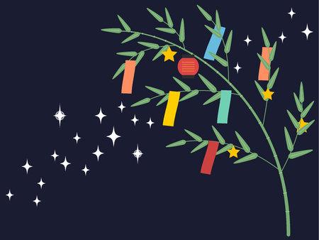 Milky Way Tanabata Festival Illustration