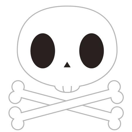 Illustration of skull