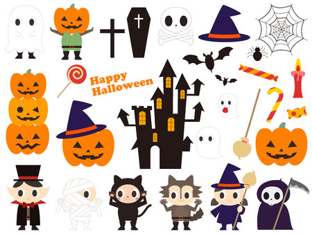 illustration of cute costume of Halloween Illustration