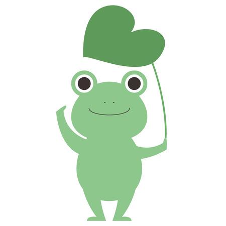 Illustration of a cute frog Stock Illustratie