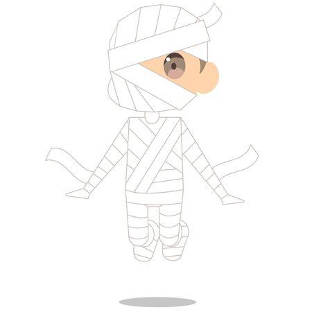 Cute Halloween Mummy Masquerade Foto de archivo - 125188904