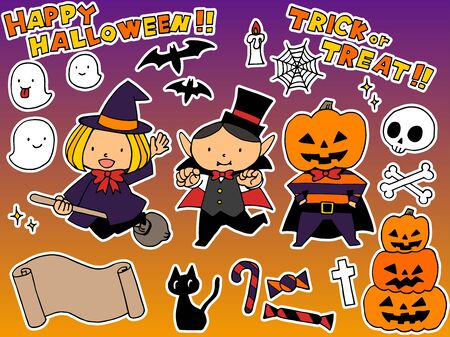 Cute halloween hand drawn illustration