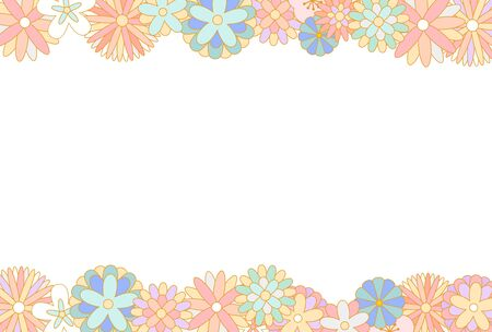 Japanese style floral pattern in pastel color