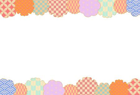 Pastel color Japanese style pattern frame