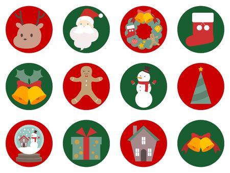 Cute christmas illustration set