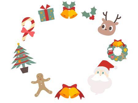 Cute christmas motif frame