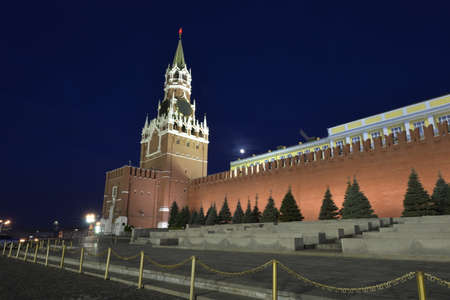 red square: Red square night