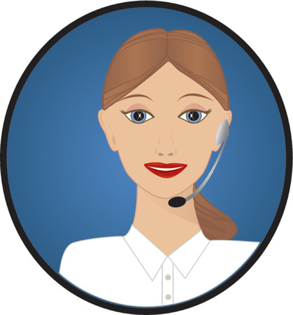 answering phone: Customer Service Telephonist