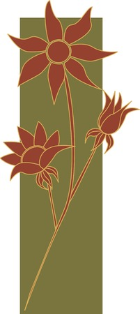 franela: Australia franela manojo de flores  Vectores