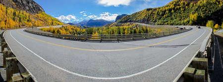 glenn: The Glenn Highway crosses Caribou Creek on a beautiful fall day in Alaska