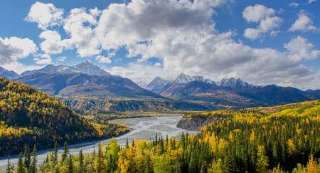 glenn: The Matanuska River flows below the Chugach Mountains in Alaska