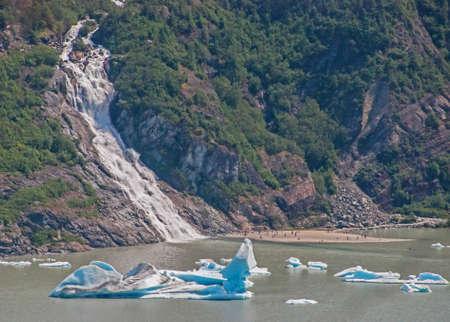 nugget: Nugget Falls at Mendenhall Glacier in Juneau, Alaska