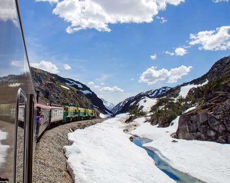 yukon: White Pass  Yukon Route Railroad heading towards Skagway, Alaska