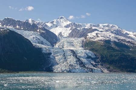 calving: Bryn Mawr Glacier in College Fjord, Alaska Stock Photo