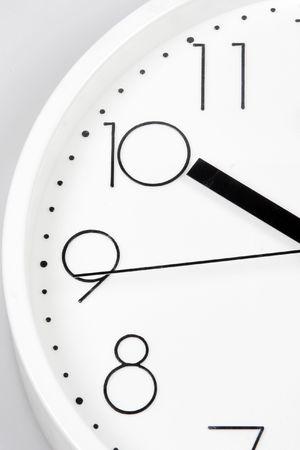 Close up of white clock